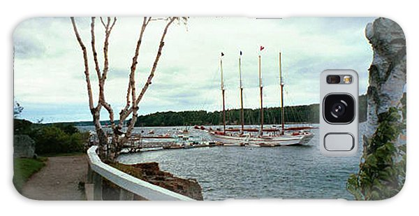 Shore Path In Bar Harbor Maine Galaxy Case