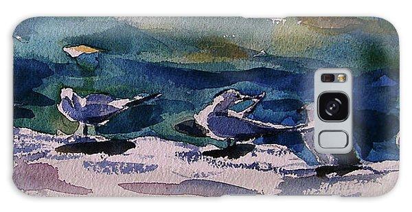 Shoreline Birds Iv Galaxy Case
