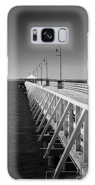 Shorncliffe Pier In Monochrome Galaxy Case