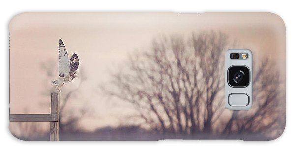 Fence Post Galaxy Case - Short Eared Owl At Dusk by Carrie Ann Grippo-Pike