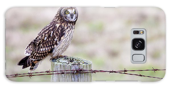 Short Eared Owl Boundary Bay Galaxy Case by Chris Dutton