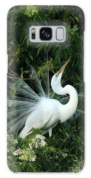 Showy Great White Egret Galaxy Case