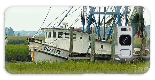 Shrimp Boat And Pelican - Lowlands Of South Carolina Galaxy Case