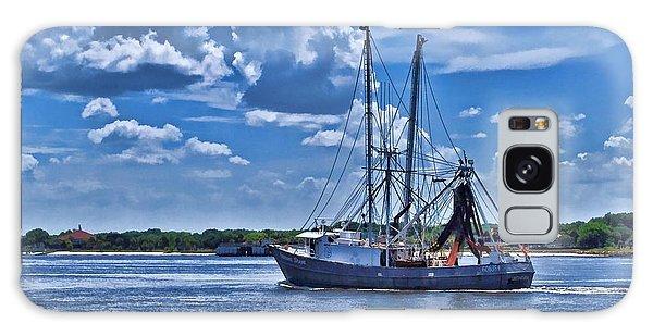 Shrimp Boat Heading To Sea Galaxy Case