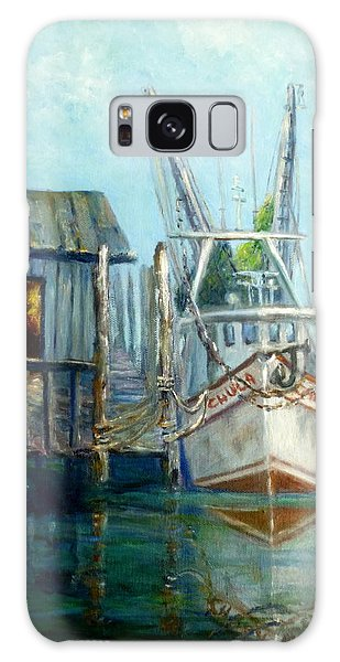 Shrimp Boat Paintings Galaxy Case