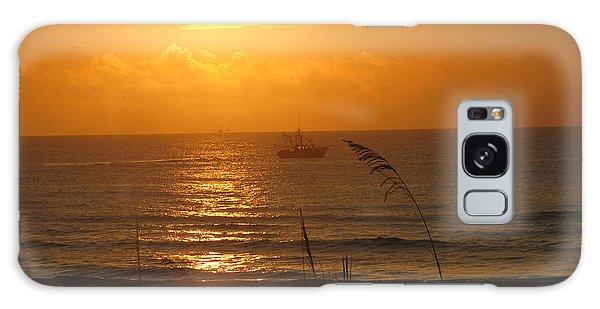 Shrimp Boat Sunrise Galaxy Case by Ellen Meakin