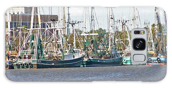 Shrimp Boats 3 Port Arthur Texas Galaxy Case by D Wallace