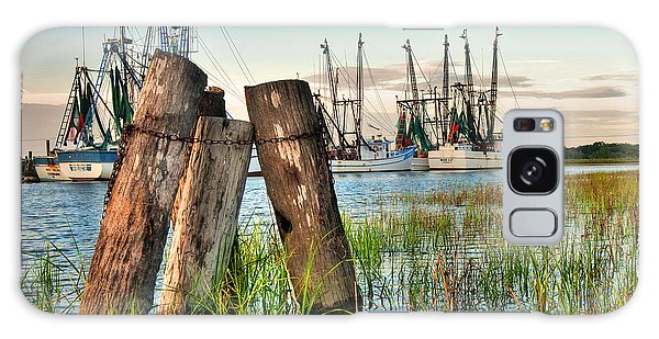 Shrimp Dock Pilings Galaxy Case