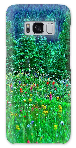 Shrine Pass Wildflowers Galaxy Case