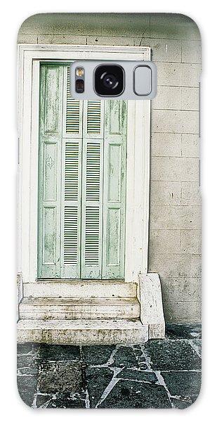 Shuttered Doors Galaxy Case by Heather Green