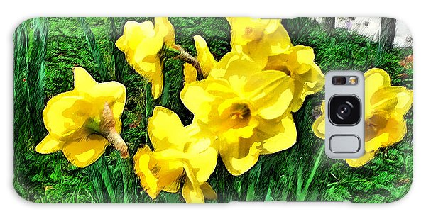 Shy Daffodils  Galaxy Case