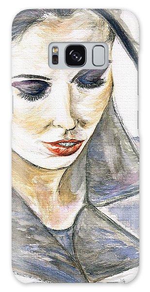 Shy Lady Galaxy Case by Teresa White
