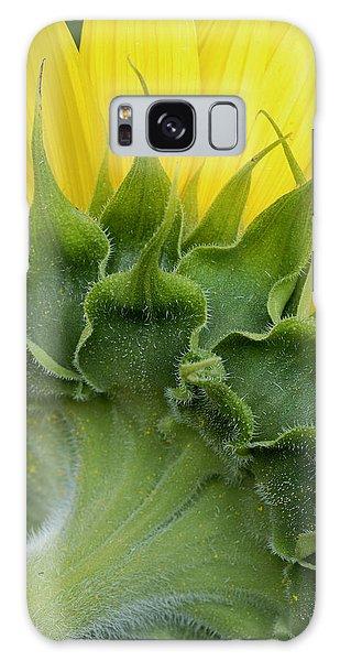 Shy Sunflower Galaxy Case by Nancy De Flon