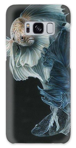 Siamese Fighting Fish Three Galaxy Case