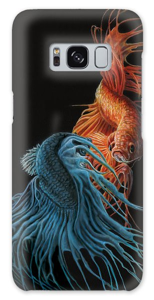 Iridescent Galaxy Case - Siamese Fighting Fish Two by Wayne Pruse