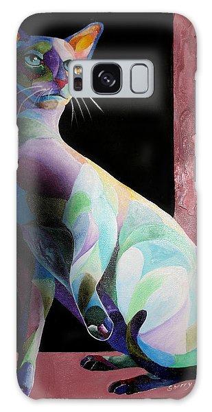 Siamese Shadow Cat 1 Galaxy Case by Sherry Shipley