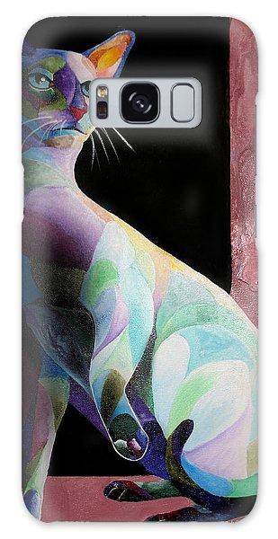 Siamese Shadow Cat 1 Galaxy Case