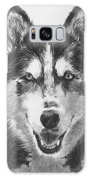 Siberian Husky Drawing Galaxy Case