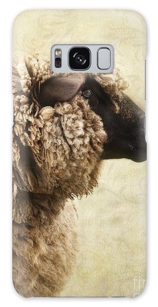 Sheep Galaxy Case - Side Face Of A Sheep by Priska Wettstein