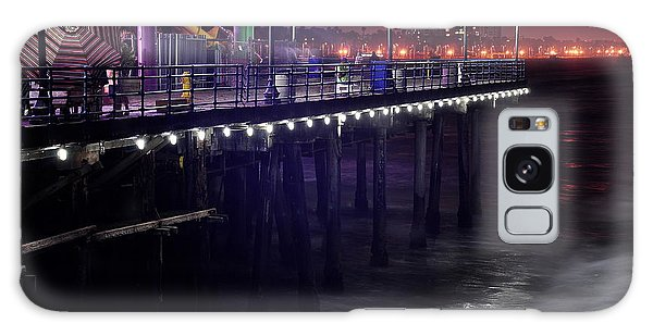 Side Of The Pier - Santa Monica Galaxy Case by Gandz Photography