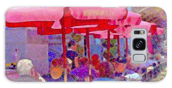 Galaxy Case - Sidewalk Cafe Digital Painting by A Gurmankin