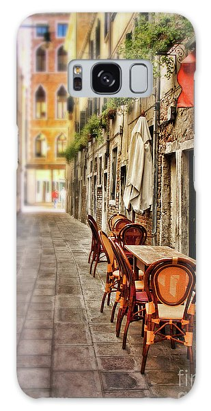 Sidewalk Cafe In Venice Galaxy Case