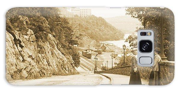 Sidewalk Conversation West Point New York 1914 Galaxy Case