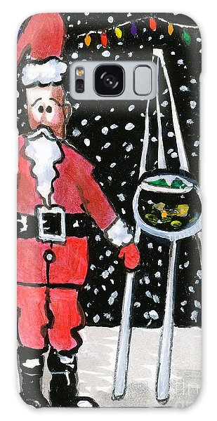 Sidewalk Santa Galaxy Case by Joyce Gebauer