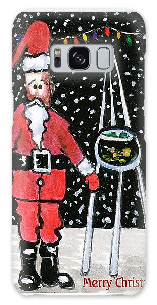 Sidewalk Santa.card Galaxy Case by Joyce Gebauer