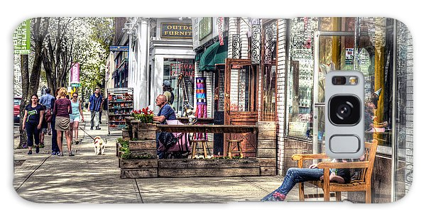 Sidewalk Scene - Great Barrington Galaxy Case