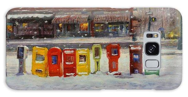 Sidewalk Sentinels In Early Snow Galaxy Case