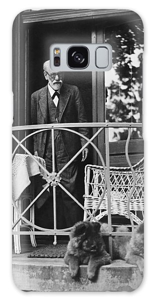 Moustache Galaxy Case - Sigmund Freud With His Chows by Underwood Archives