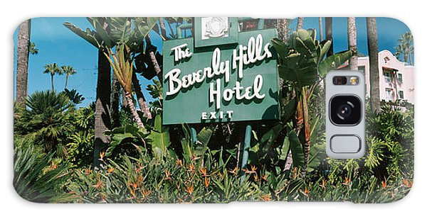 Signboard Of A Hotel, Beverly Hills Galaxy Case