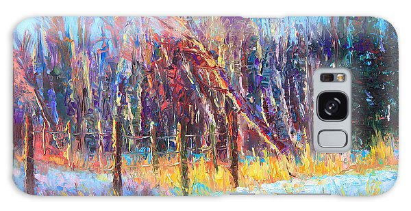 Signs Of Spring - Trees And Snow Kissed By Spring Light Galaxy Case