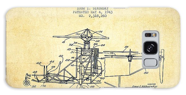 Helicopter Galaxy S8 Case - Sikorsky Helicopter Patent Drawing From 1943-vintage by Aged Pixel