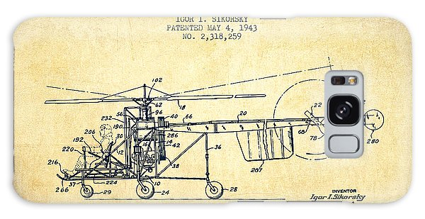Helicopter Galaxy S8 Case - Sikorsky Helicopter Patent Drawing From 1943-vintgae by Aged Pixel