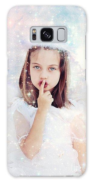 Feather Stars Galaxy Case - Silent Angel by Stephanie Frey