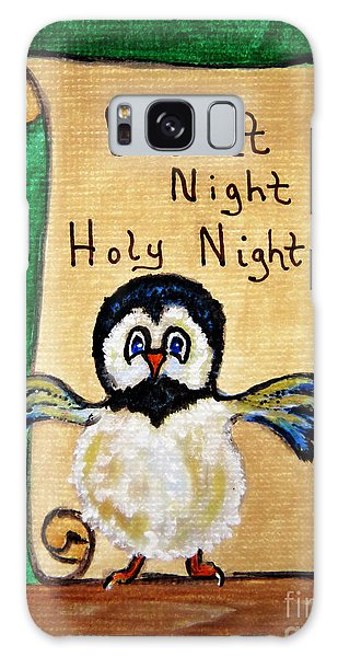 Silent Night - Whimsical Chickadee Choir Director Galaxy Case