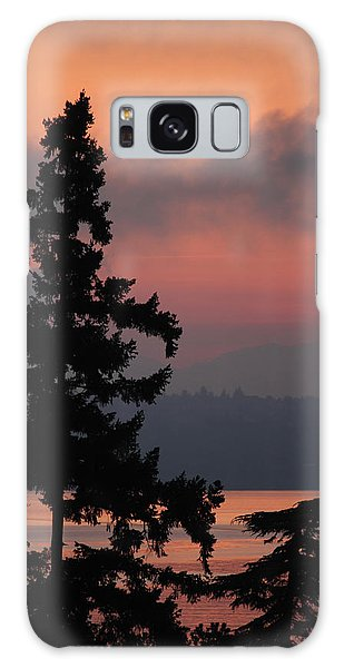 Silhouette At Sunrise Galaxy Case by E Faithe Lester