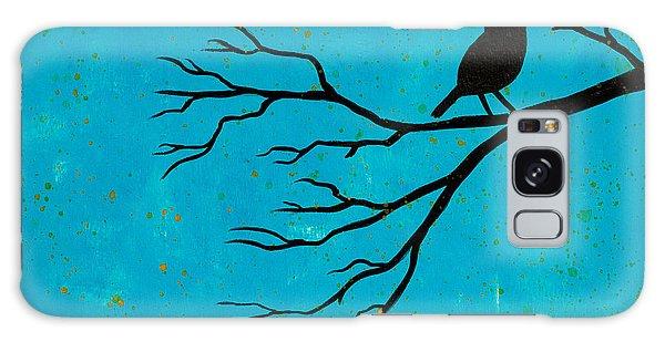 Silhouette Blue Galaxy Case by Stefanie Forck