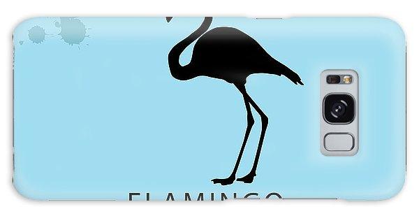 Record Galaxy Case - Silhouette Flamingo In The Retro Style by Kurt Natalia