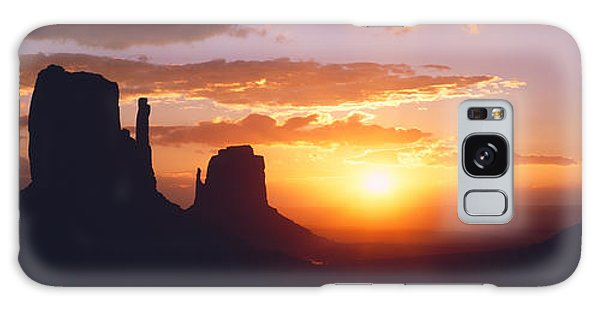 Silhouette Of Buttes At Sunset, The Galaxy Case