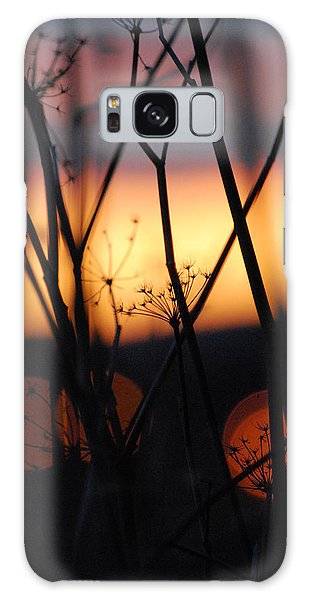 Silhouette Of Old Queens Galaxy Case