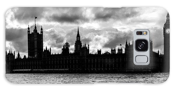 Silhouette Of  Palace Of Westminster And The Big Ben Galaxy Case by Semmick Photo