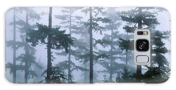 Silhouette Of Trees With Fog Galaxy Case