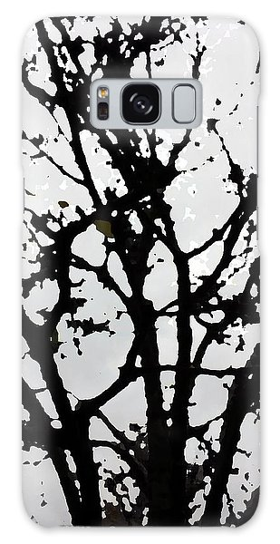 Silhouette Of Winter Tree Galaxy Case
