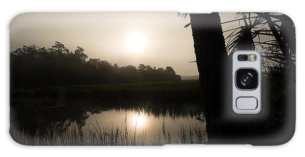Silhouette  Sunrise Galaxy Case by Margaret Palmer