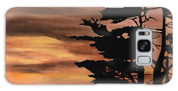 Silhouette Sunset Galaxy Case by Mary Ellen Anderson