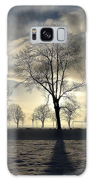 Silhouettes And A Long Winter Shadow  Galaxy Case by Brian Chase