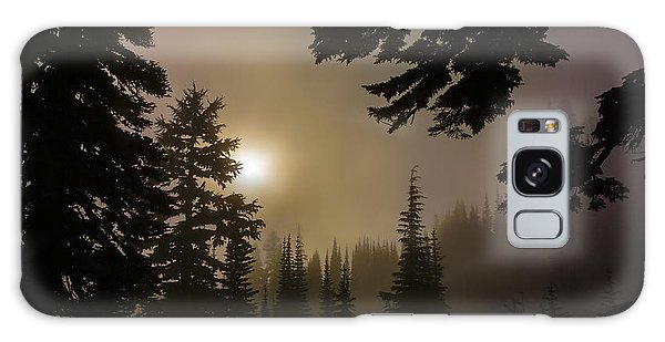 Silhouettes Of Trees On Mt Rainier II Galaxy Case